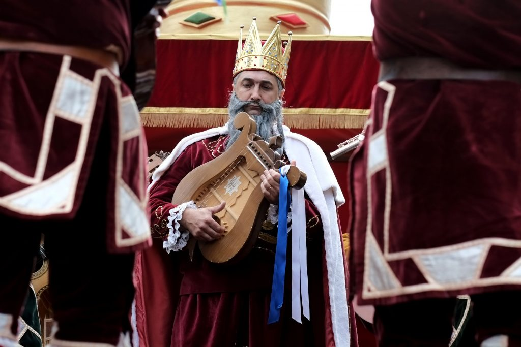 Cortejo Sanjoanino: Carro das Ervas, Carro do Rei David e Carro dos Pastores